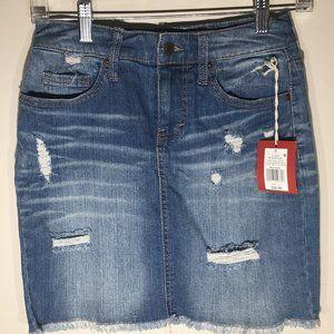Mossimo NWT distressed Denim Skirt Size 0